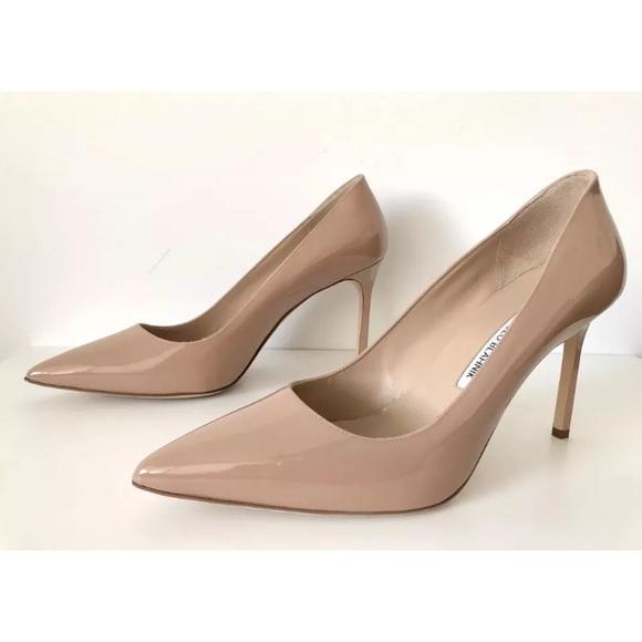 efcde0bb2effd Manolo Blahnik Shoes | Bb 90mm Nude Pumps Size 41 | Poshmark